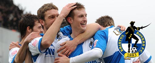An image of some of the Bristol Rovers players.